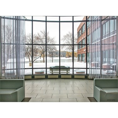 aluminum Hidden frame glass curtain wall with reflective glass