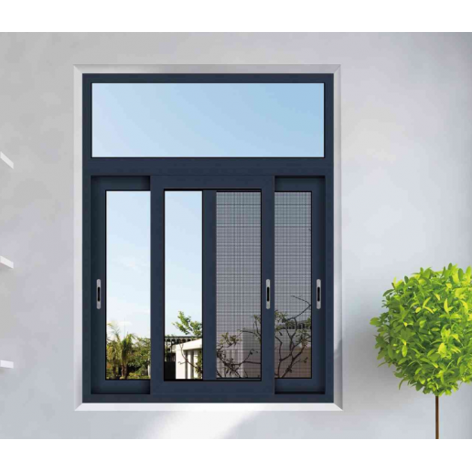 double tempered glass sliding window