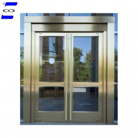 aluminum commercial double Large swing  glass doors