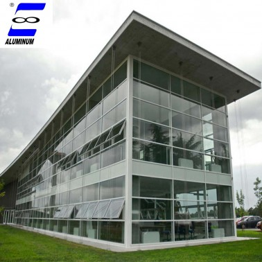 aluminium glass curtain wall price