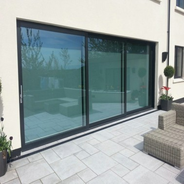 Front door aluminum sliding patio door design