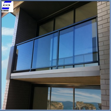 Security aluminum glass railing for balcony