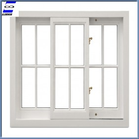 Aluminum sliding window with stalinite glass