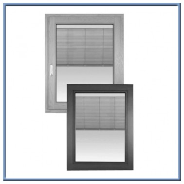 fashion aluminum casement/fixed window with blinds inside