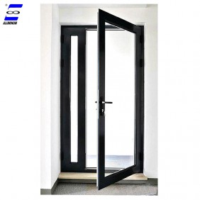 French Design Exterior Aluminum Glass Doors With Tempered Glass
