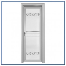 Aluminum single swing bathroom door