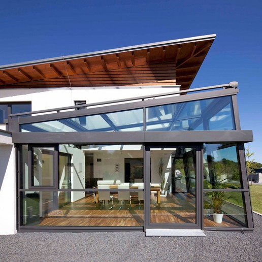 Custom aluminum glass sunroom/house