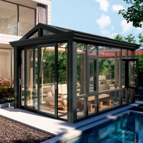 prefab glass house/sun room/solarium