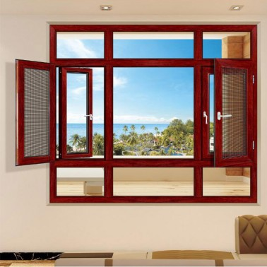Aluminum casement double glazed glass windows for nigeria