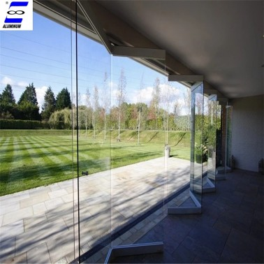 aluminum glass folding door with high quality hardware and glass