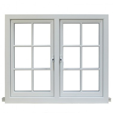 European Standard Double panels swing style aluminum casement window