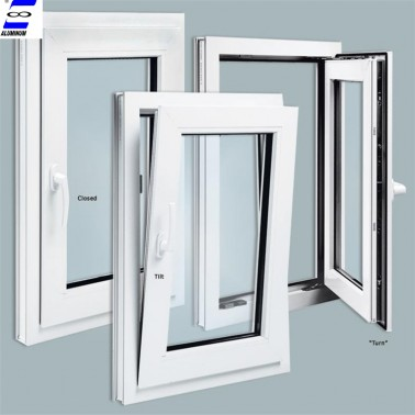Hot sale tilt and turn window with tempered glass