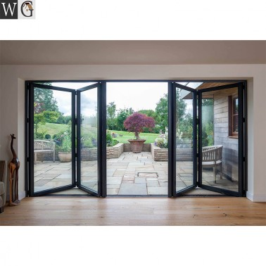 Interior Doors design aluminum folding sliding glass door system for sale