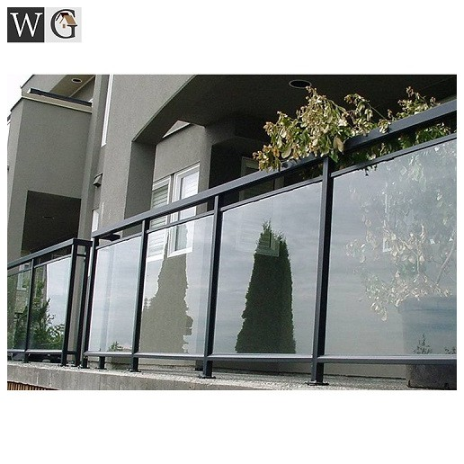 aluminum glass railing balcony grill for house apartment