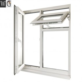 simple design aluminum casement handle window for nigeria Philippines