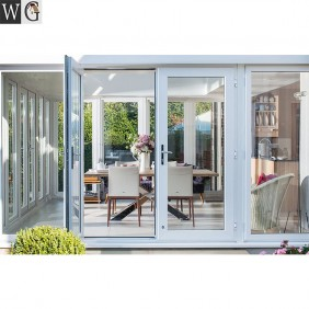 aluminum french style patio door double casement/swing door