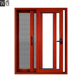 Cheap aluminum glass sliding window with mosquito net for sales