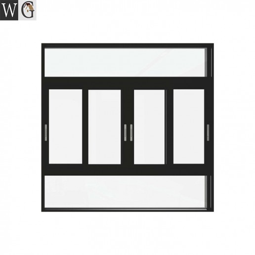 Fixed part design windproof soundproof aluminum sliding window for sale