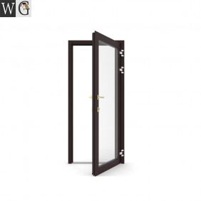 New design factory price patio single aluminium casement glass door