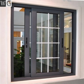 Theftproof Simple Iron Windows Grills House Aluminum Sliding Window