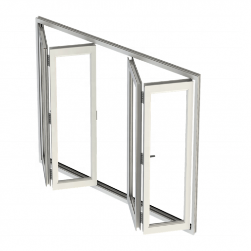 simple elegant folding glass doors with double glass