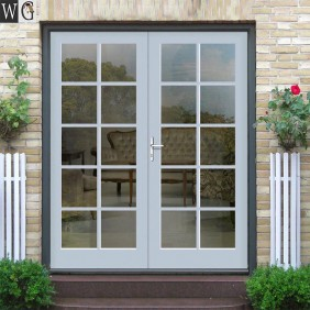 double leaf door with tempered glass for exterior garden