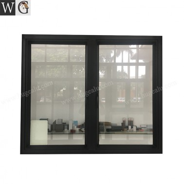 Customized Black Aluminum Frame Exterior design soundproof casement window