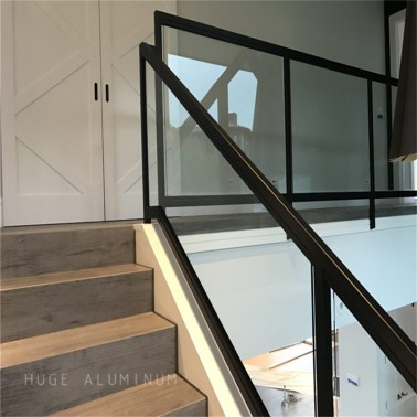 Aluminum interior glass rail